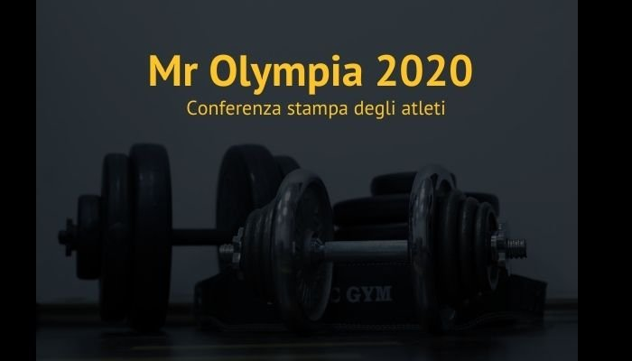mr olympia 2020 conferenza stampa